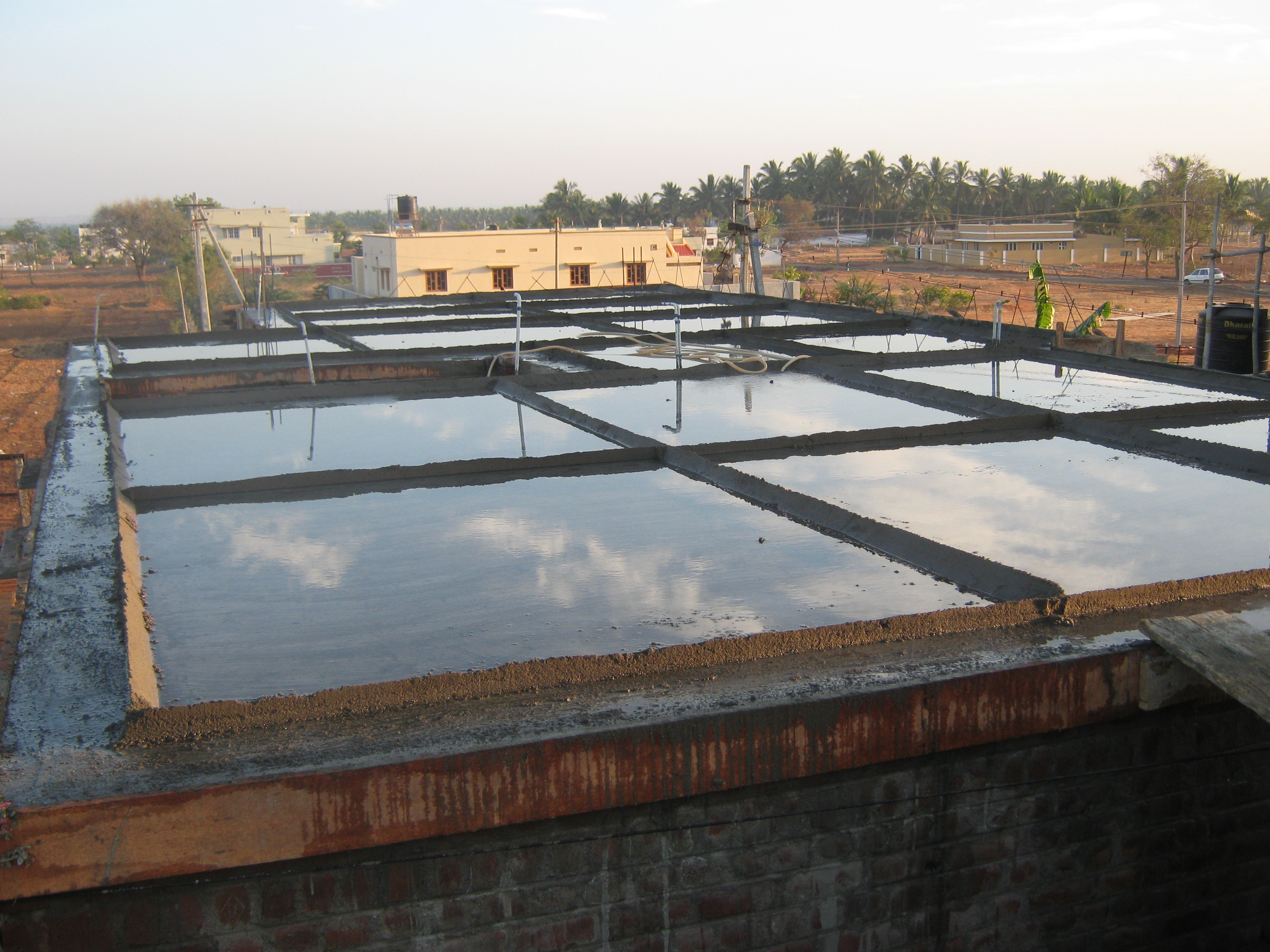 Curing On Roof Concrete