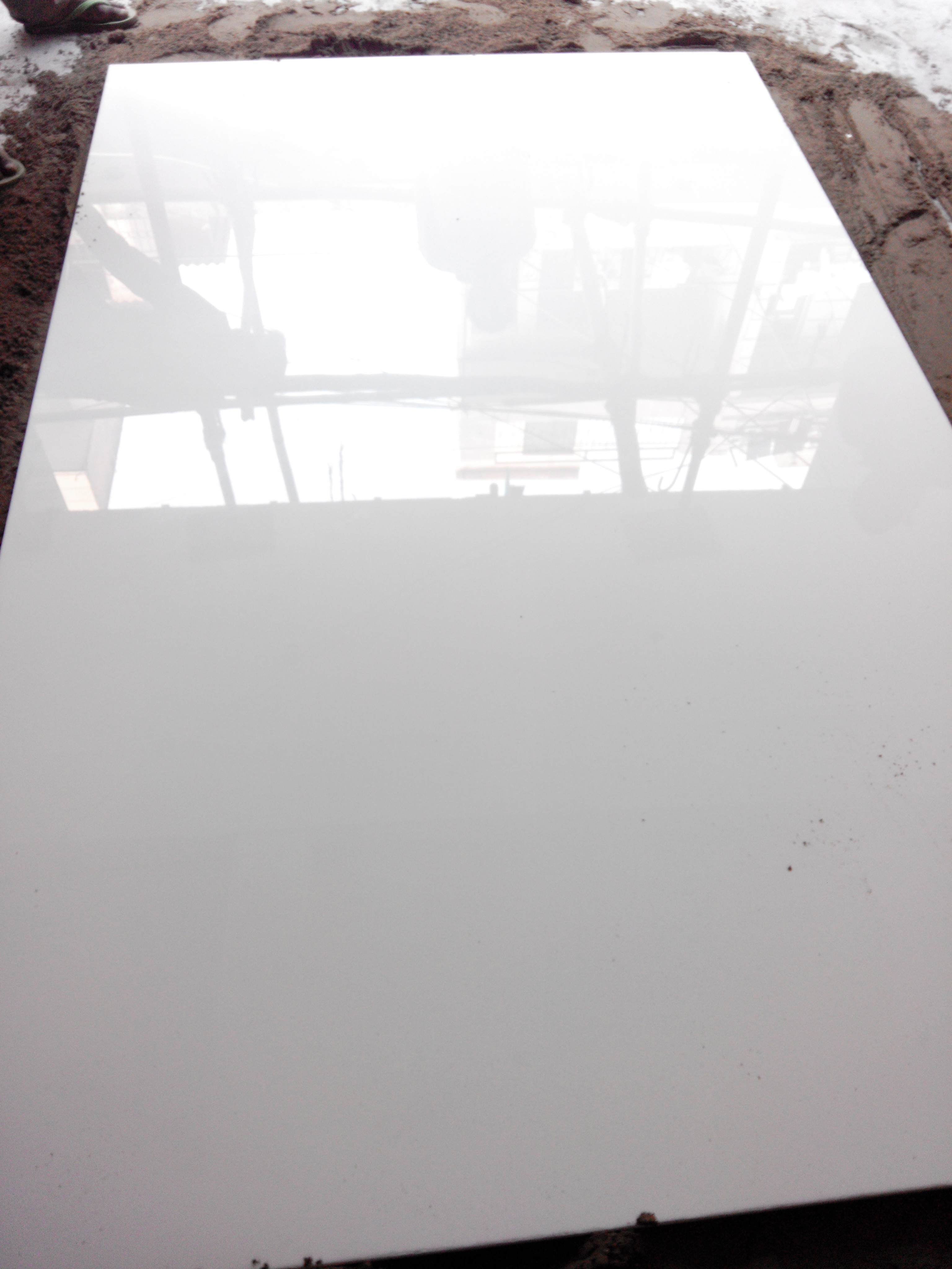 glass white marble