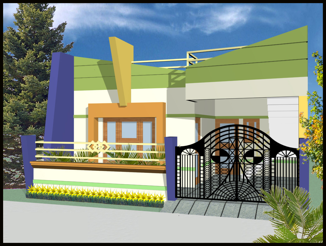 ^ an i have front elevation for Indian homes with single story