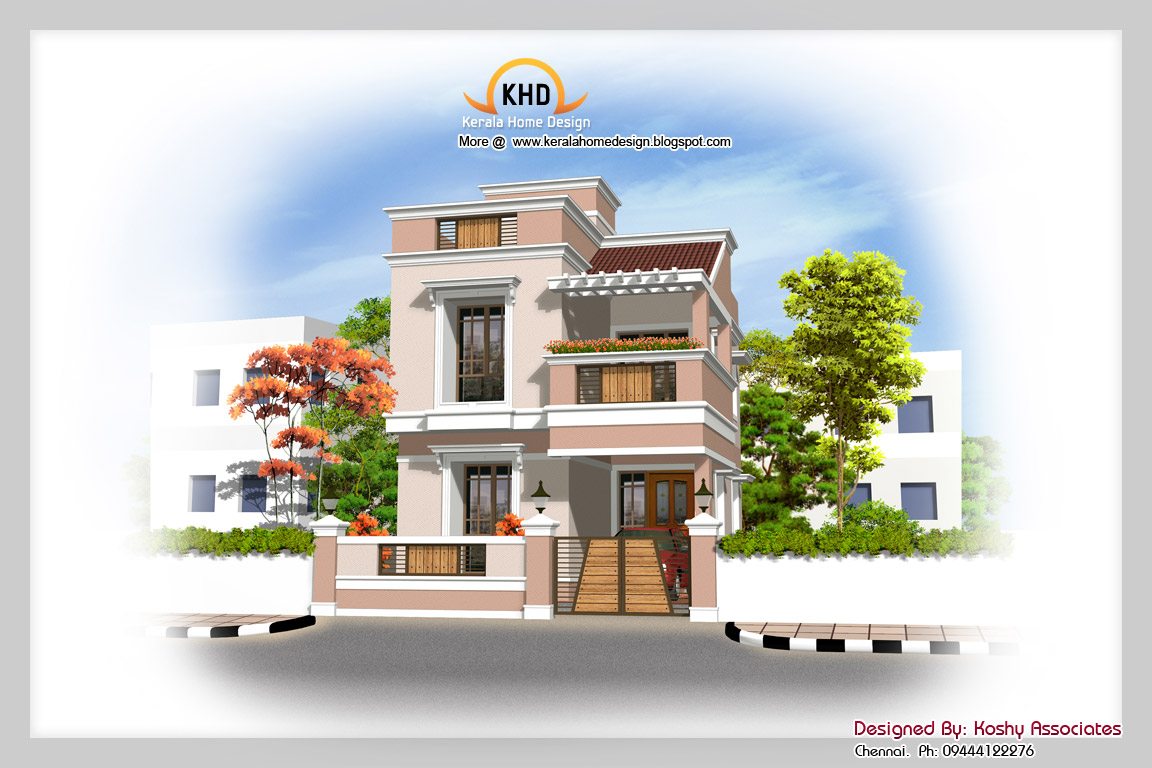 Duplex house elevation east quotes for Front elevations of duplex houses