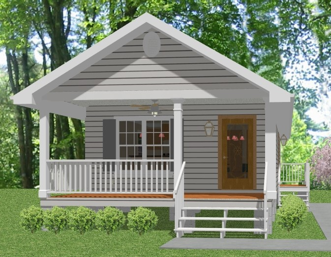 Low cost housing option for Mother in law cottage log cabin
