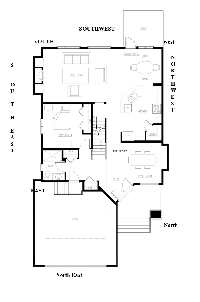 Northeast facing house plan for North facing floor plans