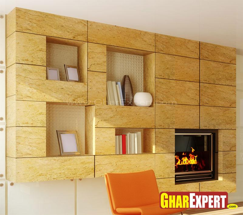 Wall Cladding With Shelves Space
