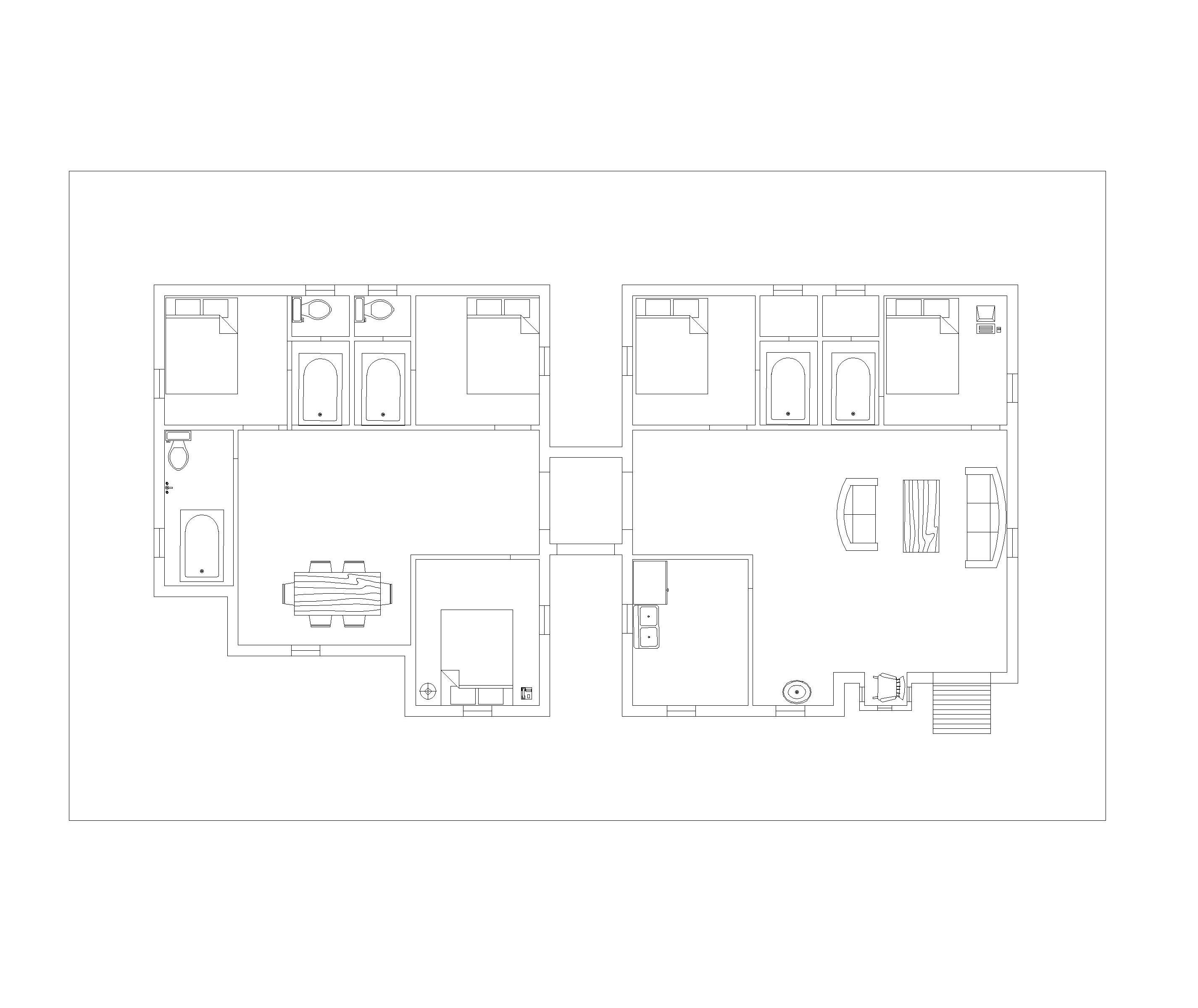 top plan of house