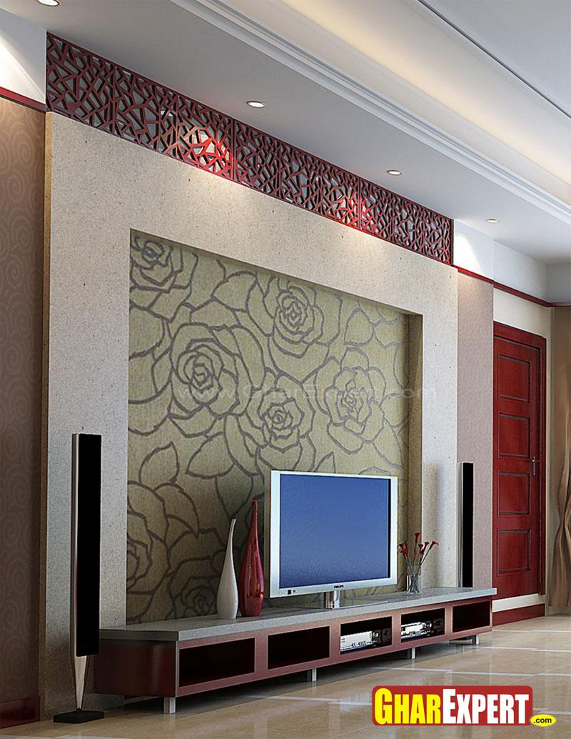 LCD Unit with Wall Decor