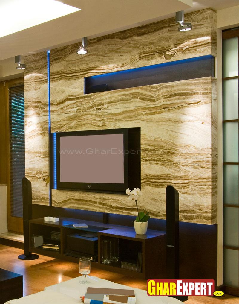 Latest Tv Unit Design: Stylish LCD Wall Unit
