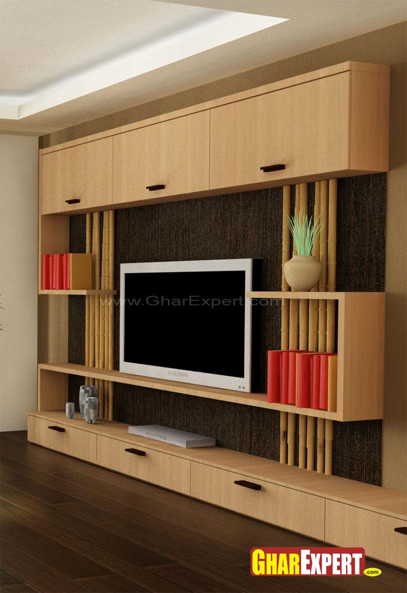 Lcd Wall Unit Design For Living Room: Stylish LCD Unit