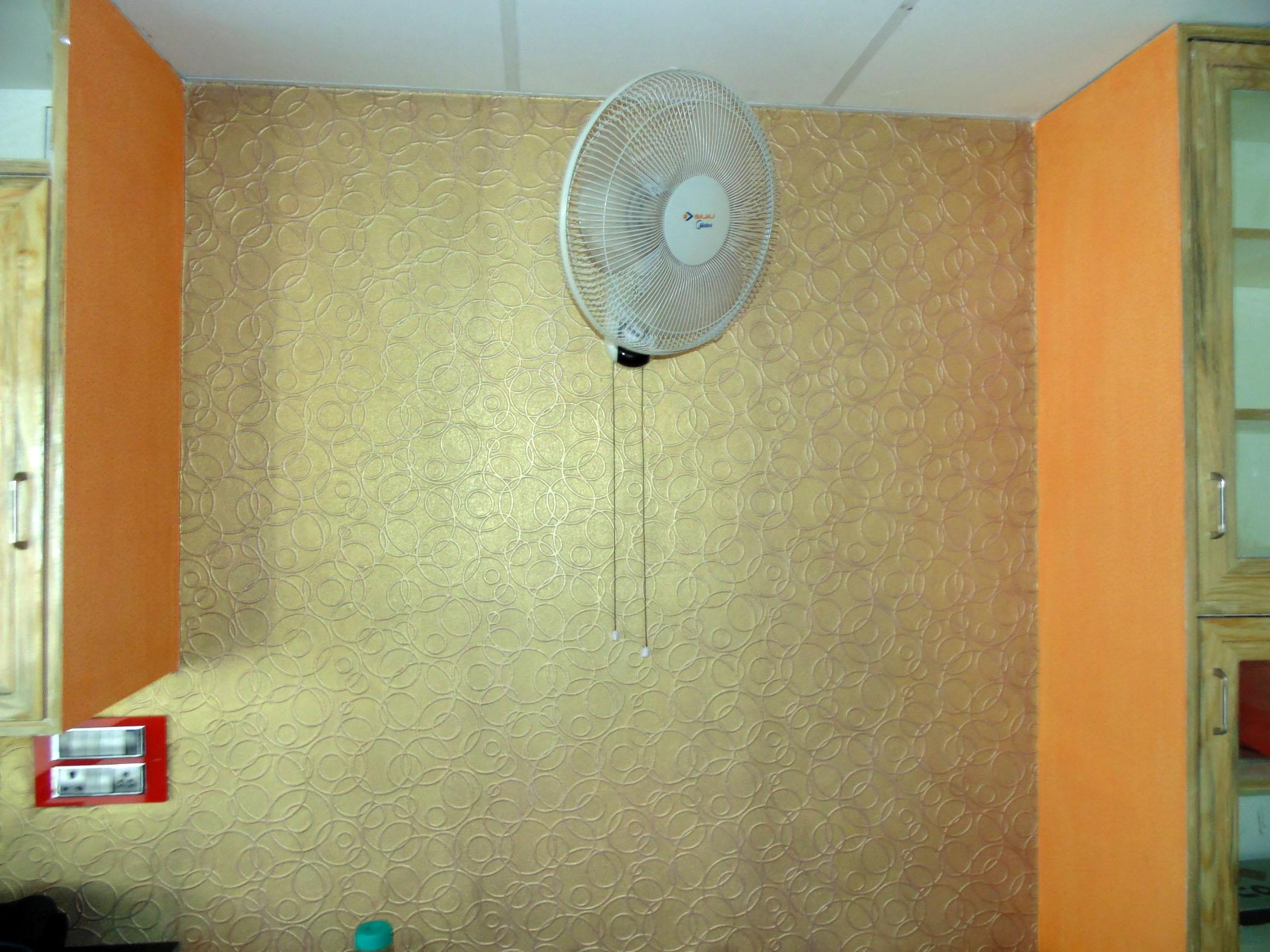 Textured Wall Paper with Golde....
