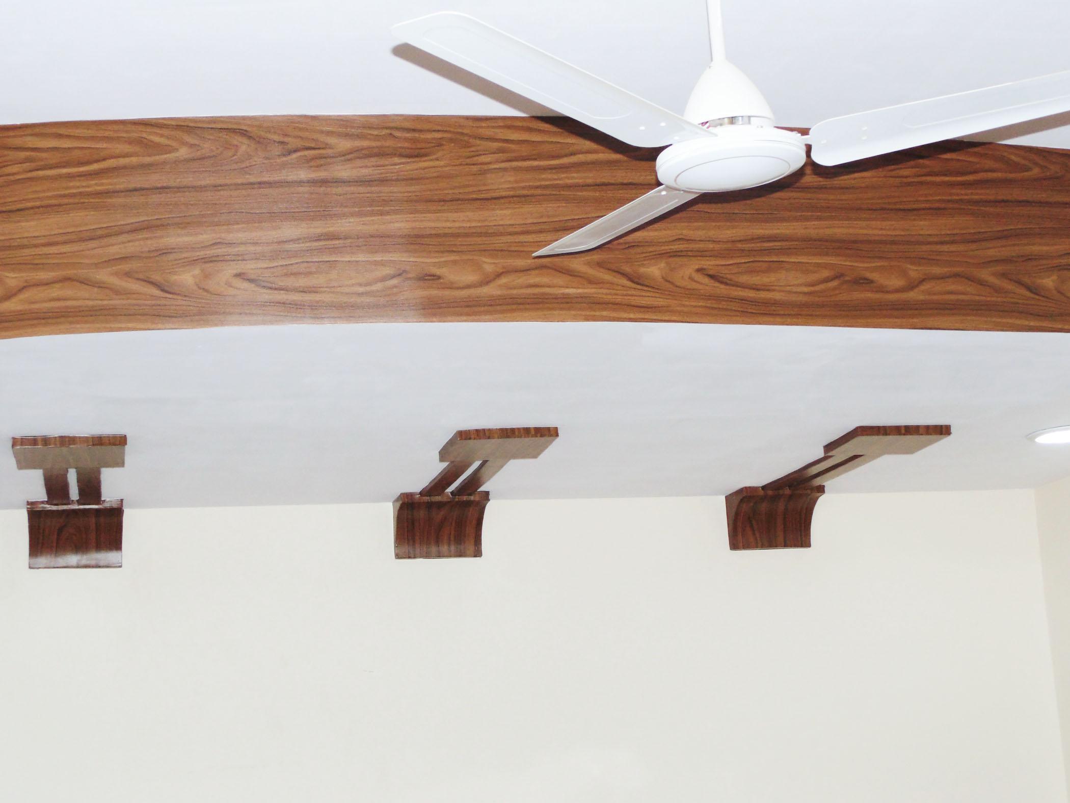 Wooden Foils on POP Ceiling