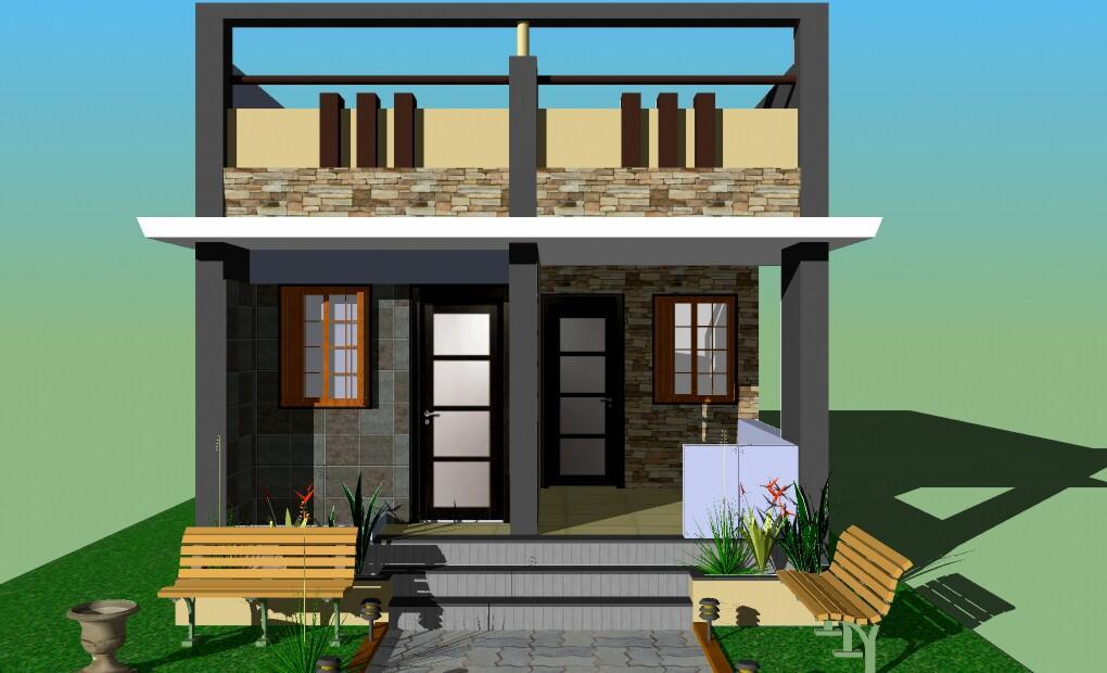 Row House Front Elevation Designs : Row house x gharexpert