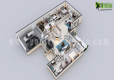 Modern Residential 3D Floor Pl....