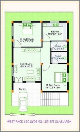 Floor plan for West