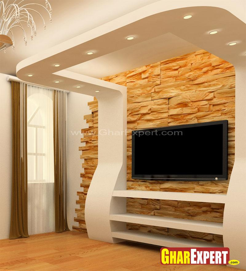 Lcd wall unit gharexpert for Lcd wall unit designs for hall