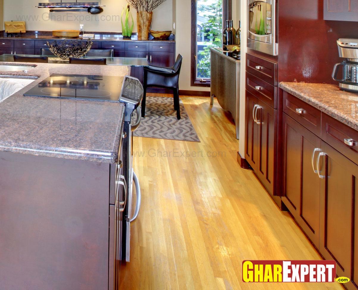 hardwood flooring for open kit....