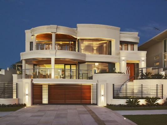 Modern exterior elevation for villa gharexpert for Modern house exterior elevation designs
