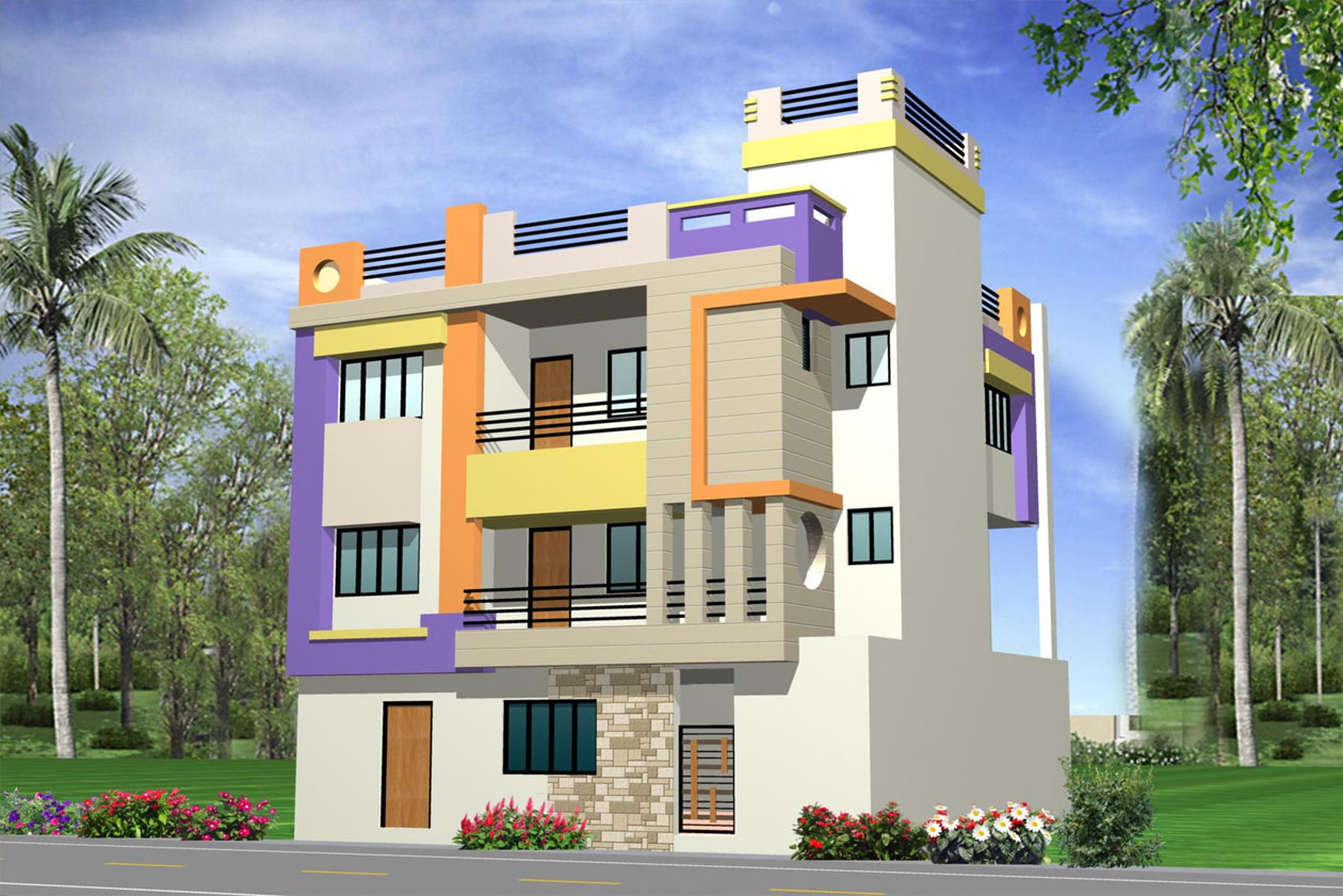 Front Elevation House Colours : Bungalow elevations photo gallery joy studio design