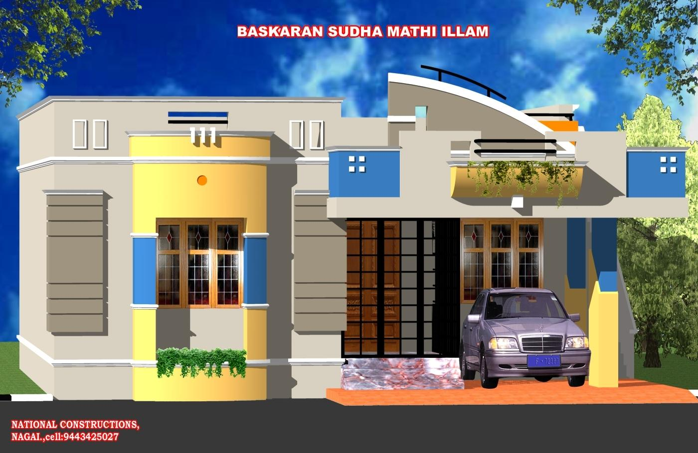 floor elevation ground floor single floor house plan kerala elevation ...
