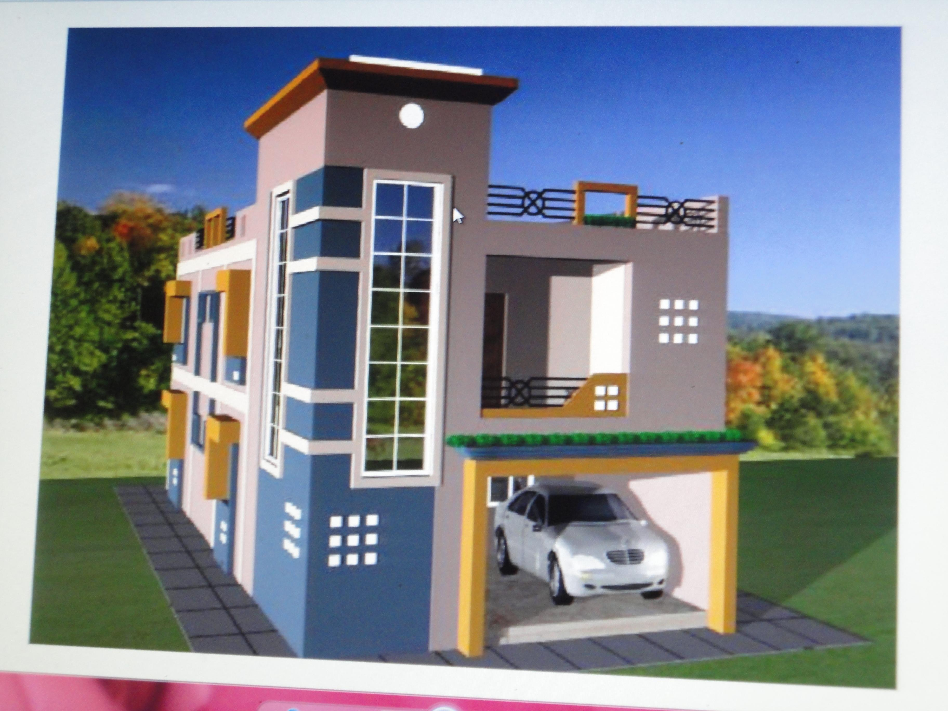 3d elevation houses plans designs for Indian house elevation photo gallery