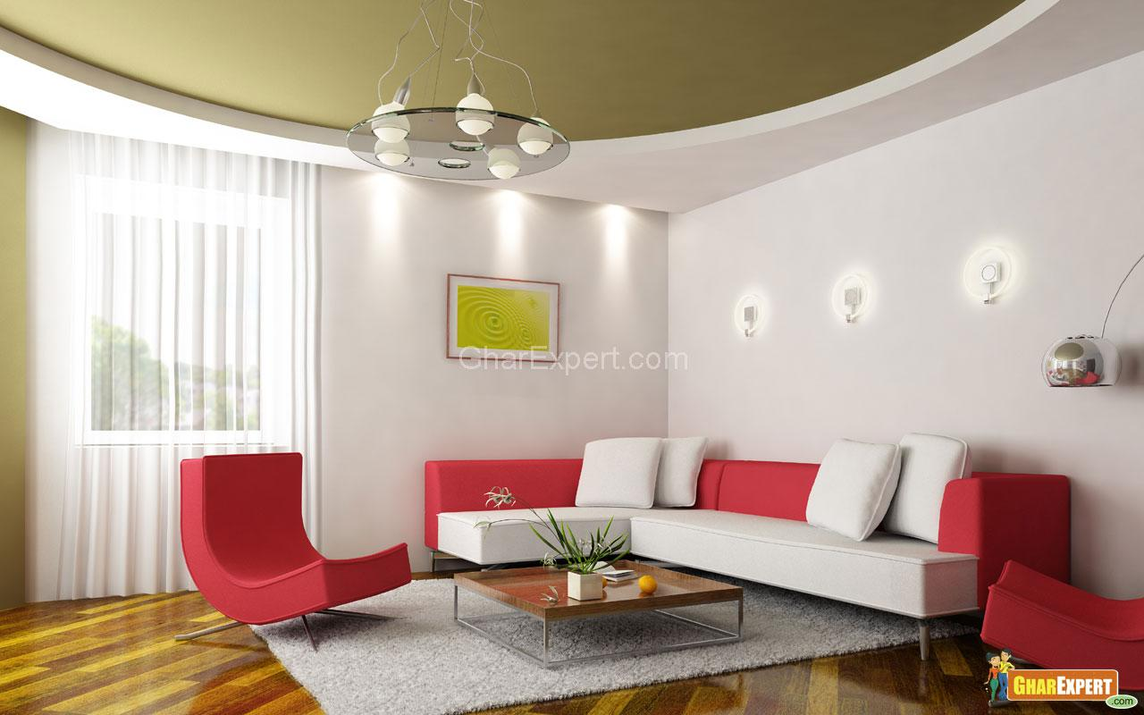 pop ceiling colour combination - Living Room Ceiling Colors