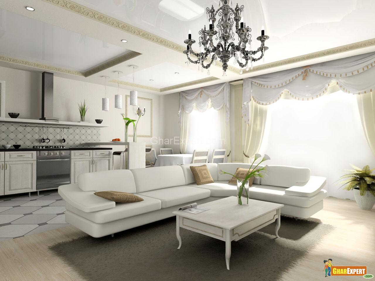 Modern drawing room gharexpert for Beautiful drawing rooms interior