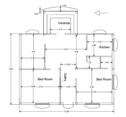 Home Plan 3BHK