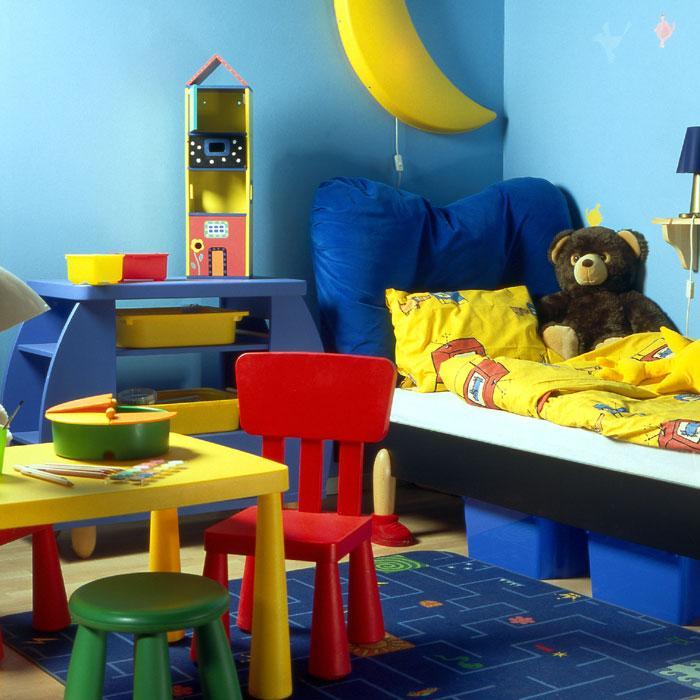 Multi color kids room