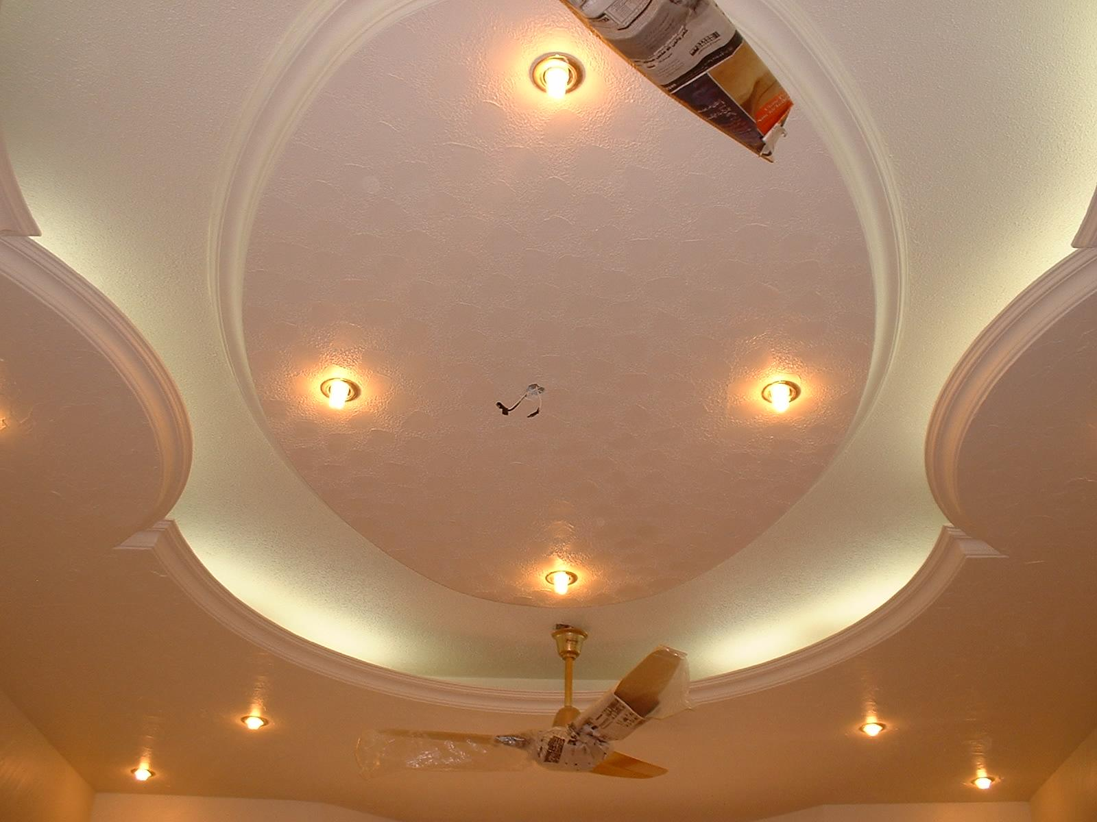 Pop Ceiling With Ceiling Fans And Lighting Gharexpert