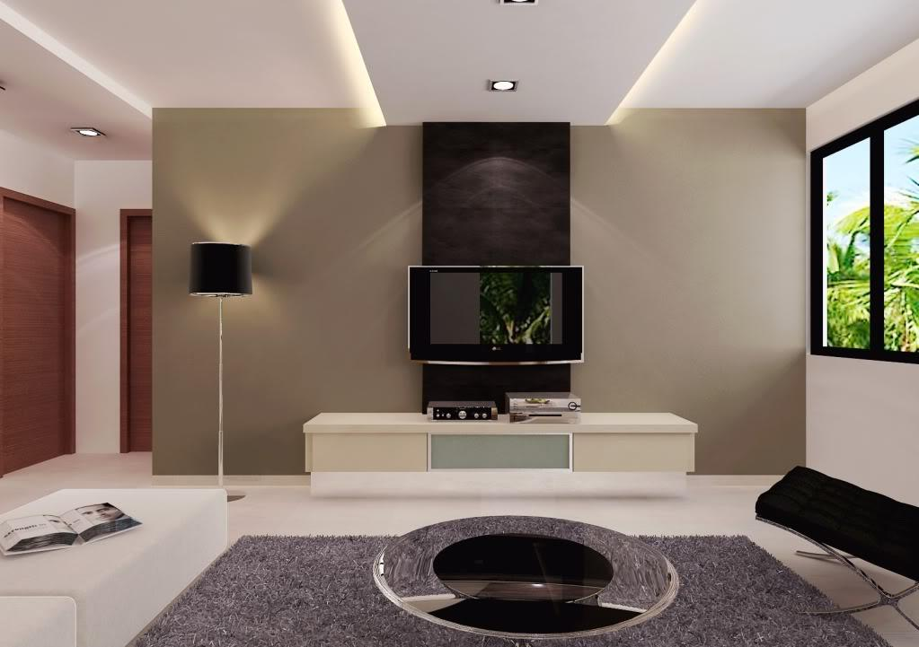 Living room wall unit design gharexpert for Simple lcd wall unit designs