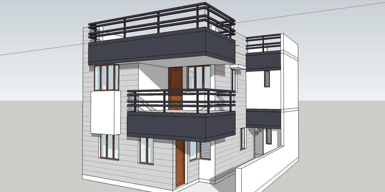 Front elevation model of house gharexpert for Simple house elevation models