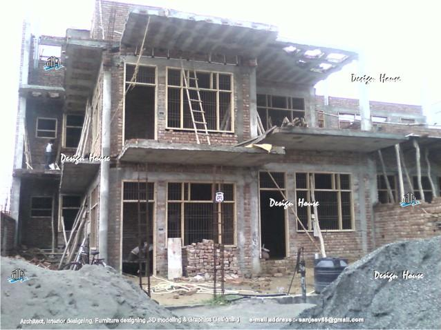 Front Elevation Designer In Bhopal : Front elevation of the raw house gharexpert