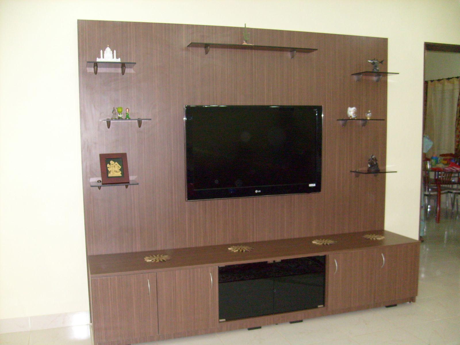 Lcd wall unit design gharexpert for Lcd wall unit designs for hall