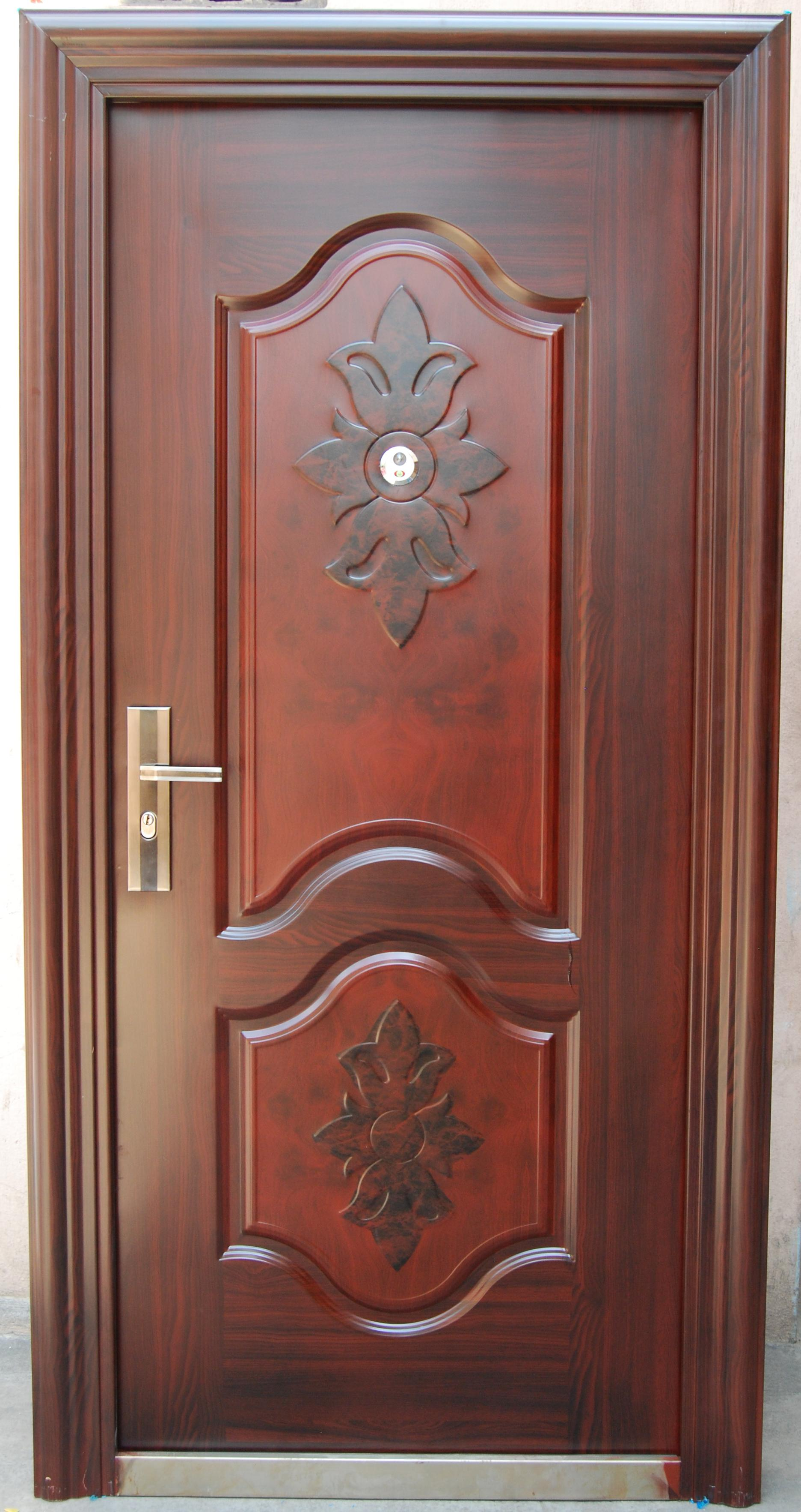 Steel security doors gharexpert for Traditional wooden door design ideas