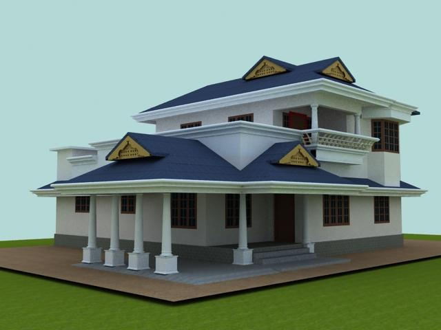 Slanted Room Exterior Elevation Design Gharexpert