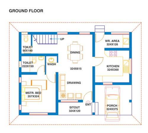 1BHK Floor Plan