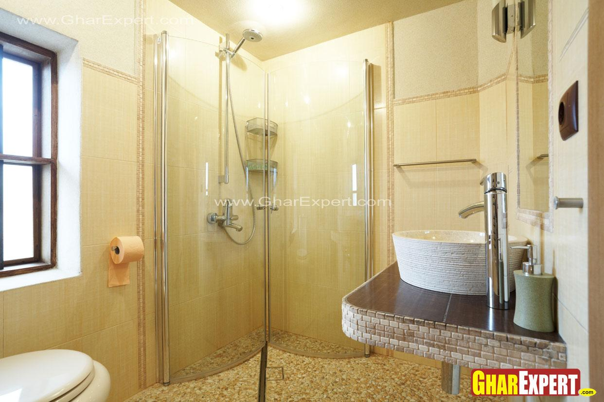 Folding shower enclosure for s....