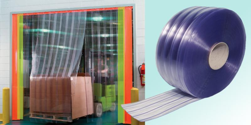 Double Ribbed PVC Strip Curtai....