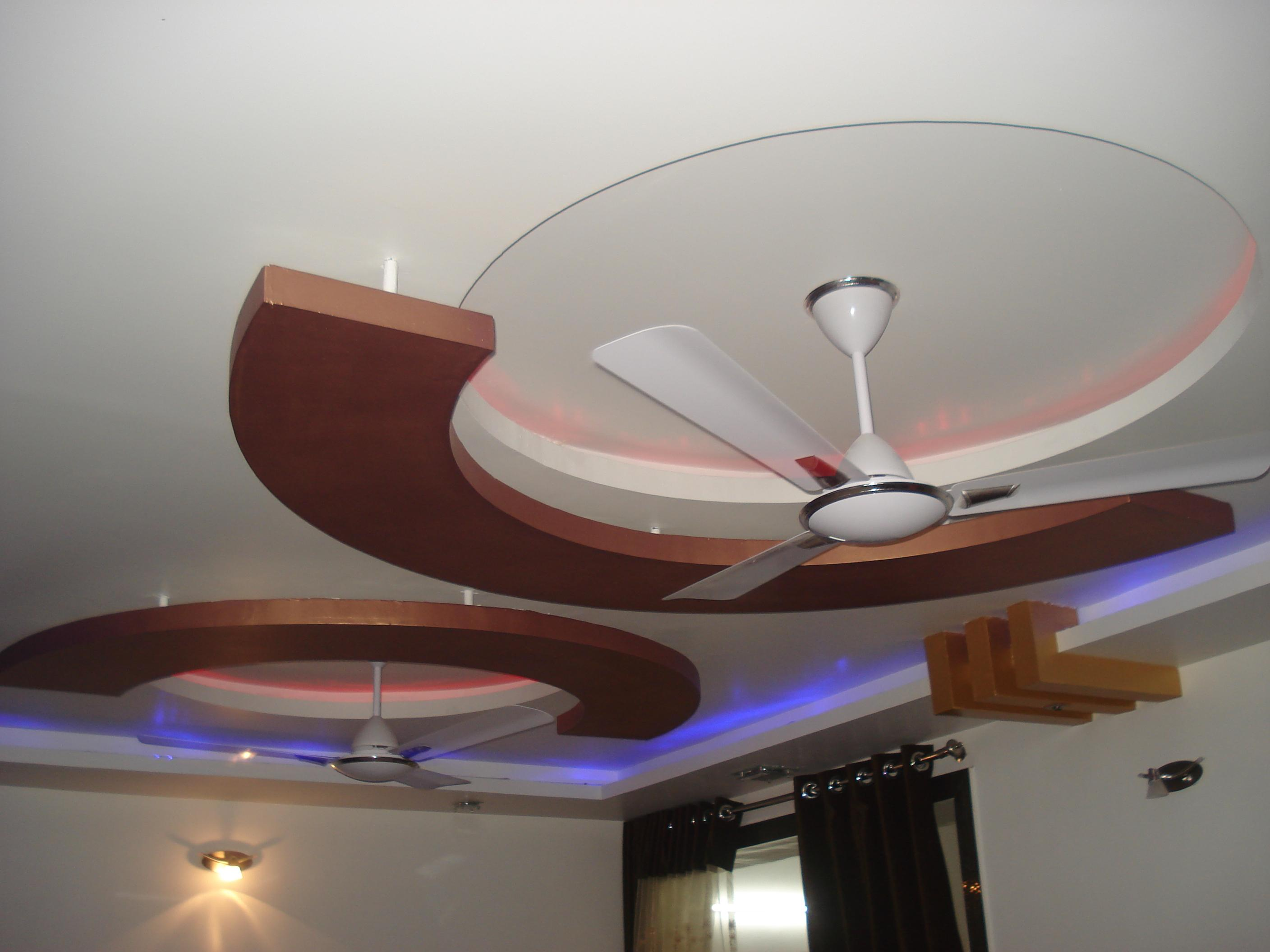 Down Ceiling In Rooms Pop With Wood Design Gharexpert P O Fall Designs