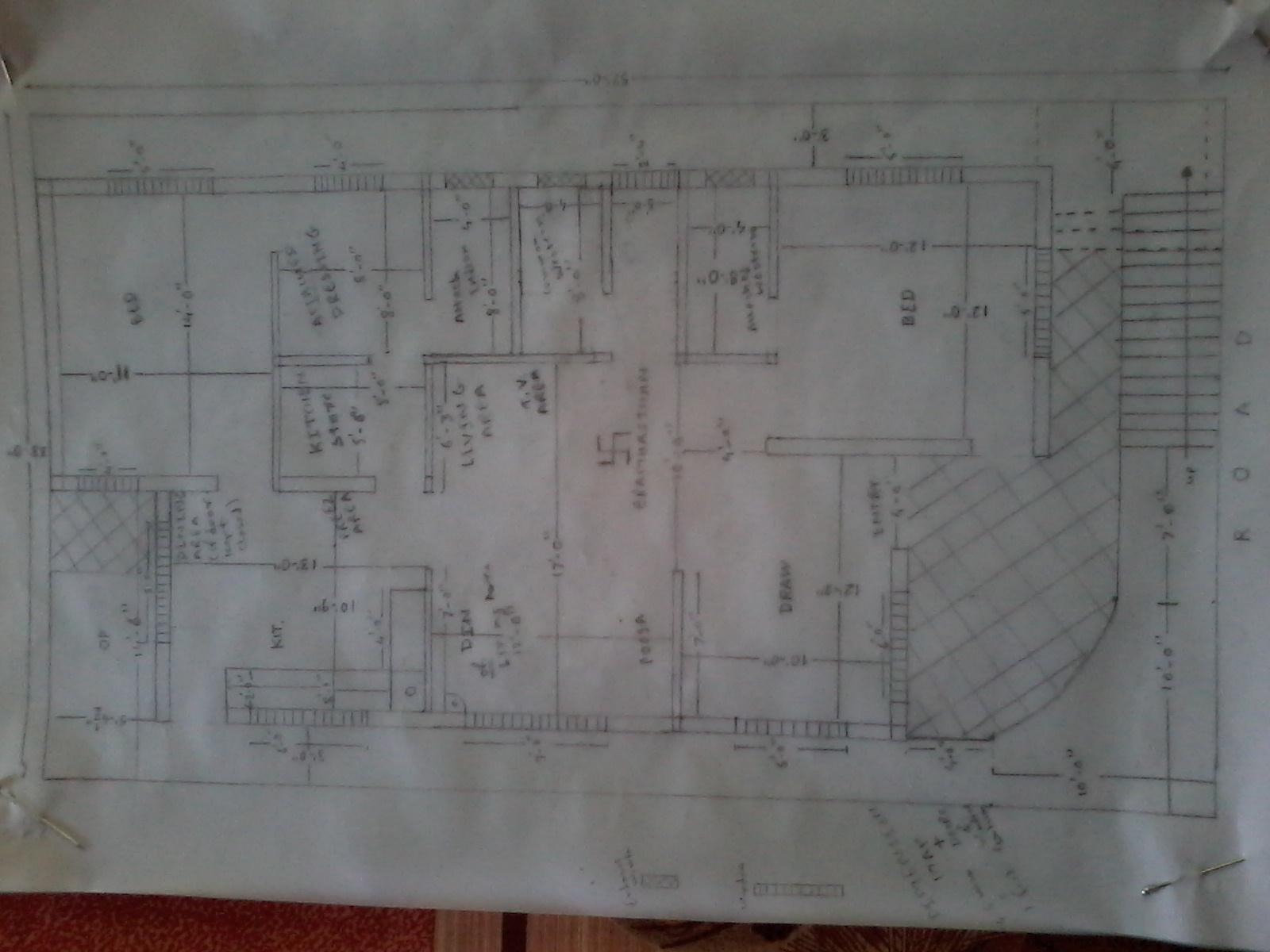 House Map Plan For 33 By 57 North Facing Plot Gharexpert