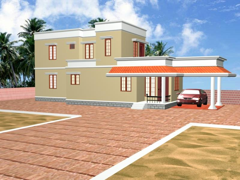 Kerala House Front Elevation Models : Front elevation kerala model gharexpert