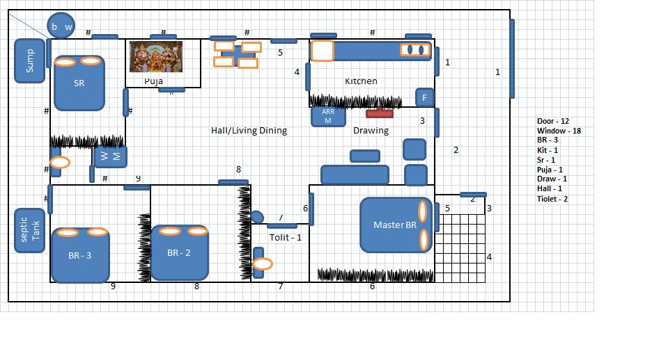 House Plan For 1000 Sq Ft South Facing