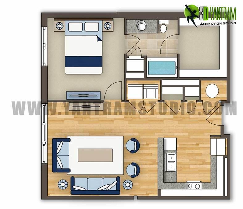 2D Residential Floor Plan