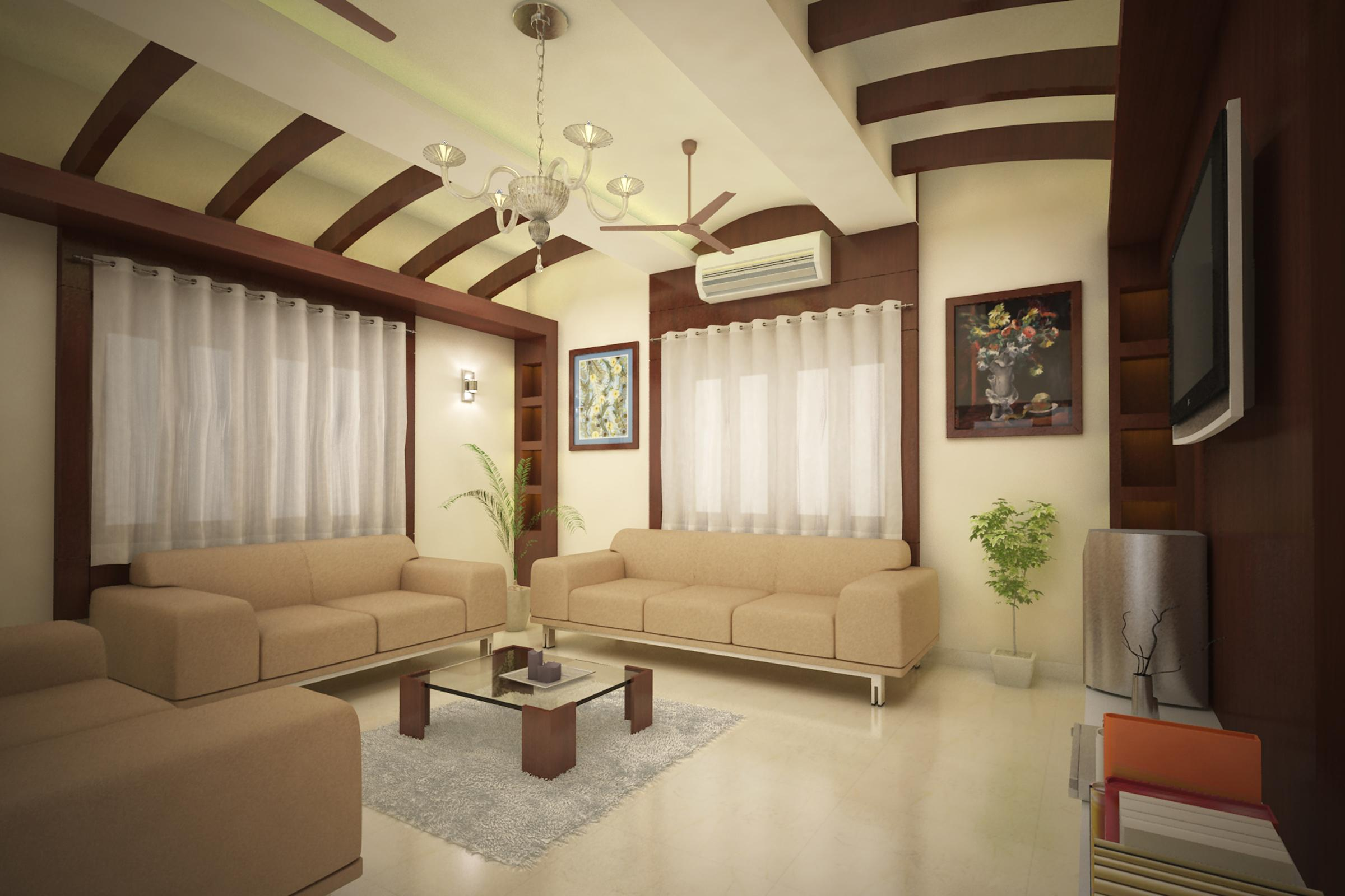 POP false ceiling with wooden ....