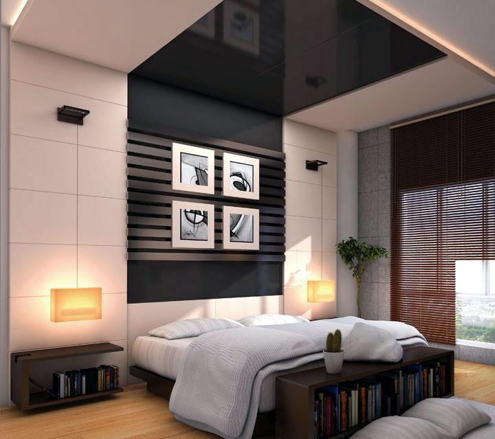 Bedroom Wall Decor And False Ceiling