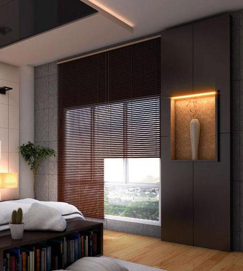 bedroom window coverings blind....