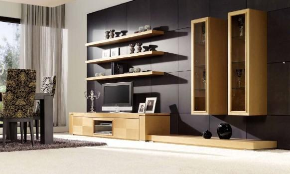 gallery 31 wall unit in white lacquer and american walnut by