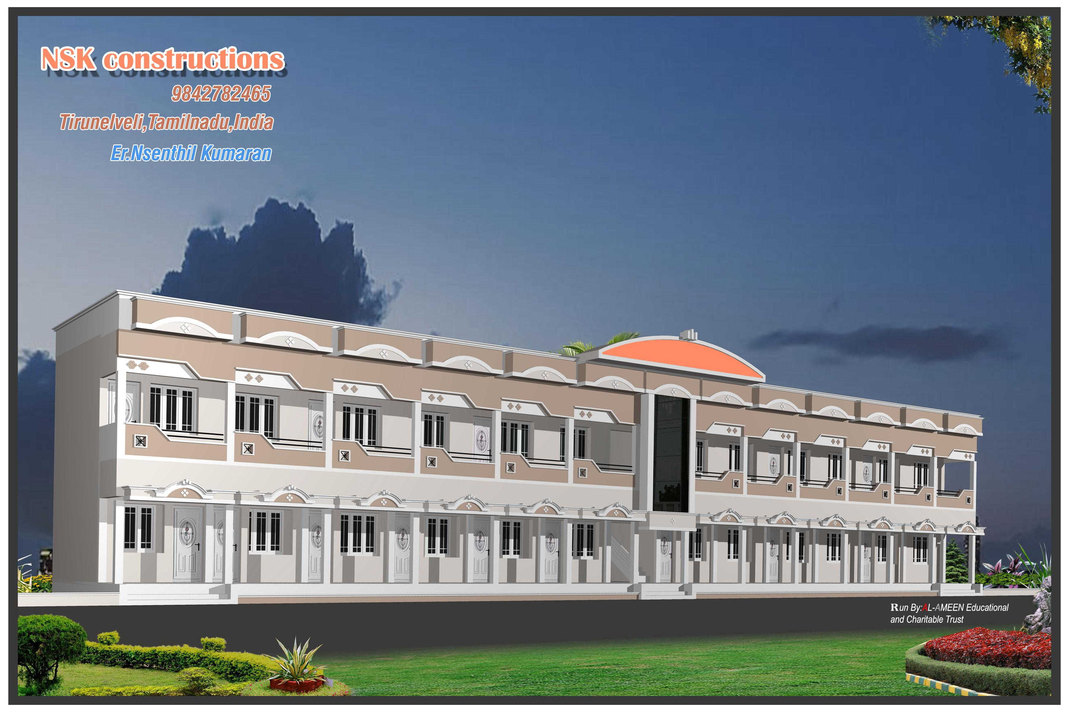 Elevation of school building - GharExpert