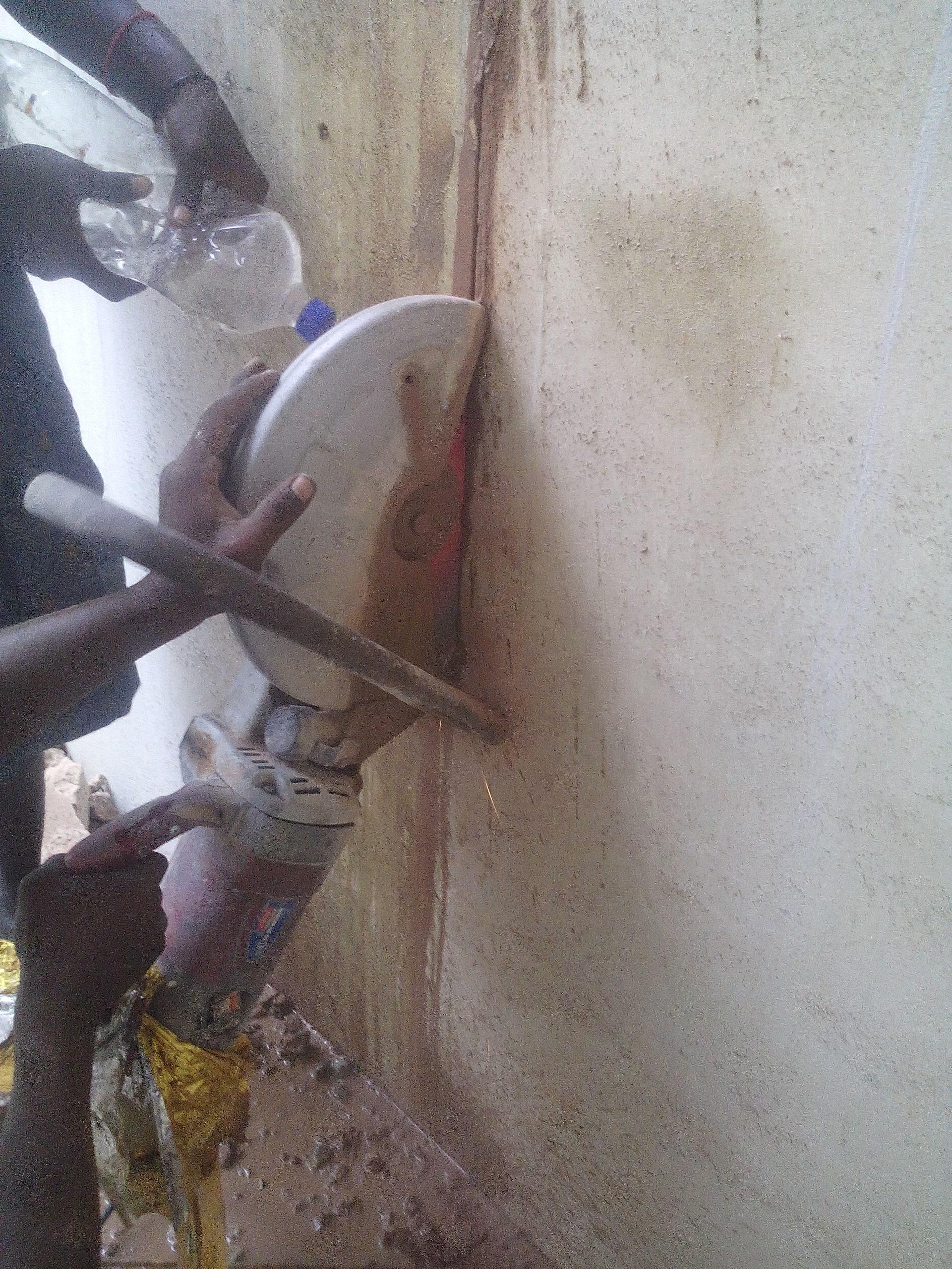 brickwall cutting work by hita....