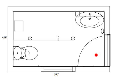 Small space bathroom layout plan gharexpert for Master bathroom floor plans 10x12