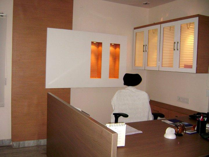 Manager Cabin In Office Wall Niche Design Gharexpert