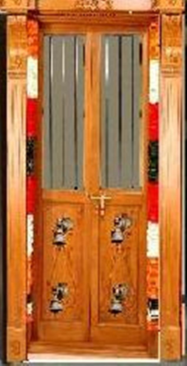 Kerala style pooja cabinet joy studio design gallery for Simple room door design